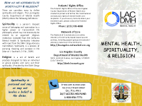LA County Department of Mental Health's Mental Health Spirituality & Religion brochure