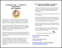 Veterans Day Bulletin Insert