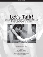 Let's Talk! Breaking the Silence Around Mental Illness in Our Communities of Faith