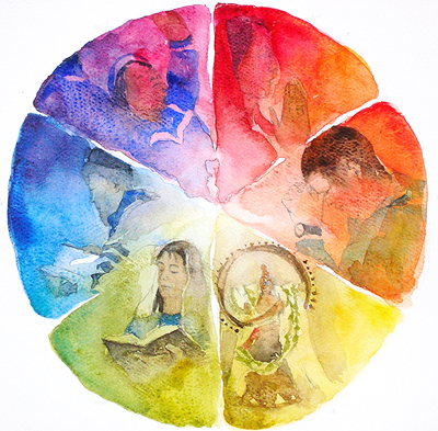 Theological Circle Watercolor Painting by Jennifer Smith Greene (www.jsgreene.com)