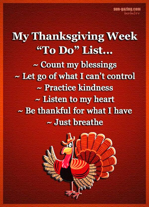 "My Thanksgiving Week ""To Do"" List graphic"